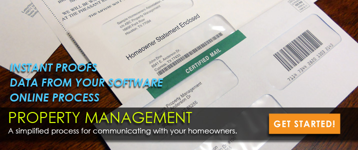 Property Management Mailing Solutions